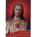 Medallita y estampa del Sagrado Corazón de Jesús