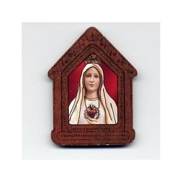 Imán del Inmaculado Corazón de María (para colocar en coche, nevera, etc.)