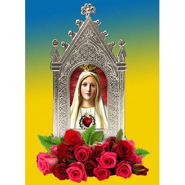 Cuadrito metálico Virgen de Fátima